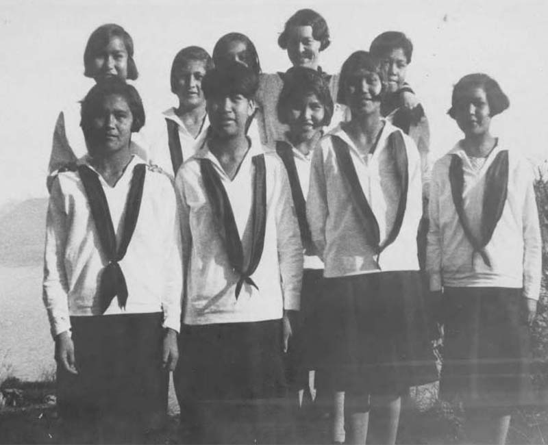 Group of students from Ahousaht School