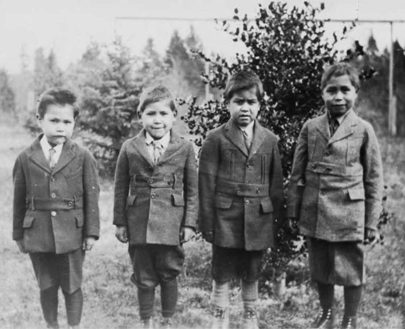 Group of four students from Alberni School