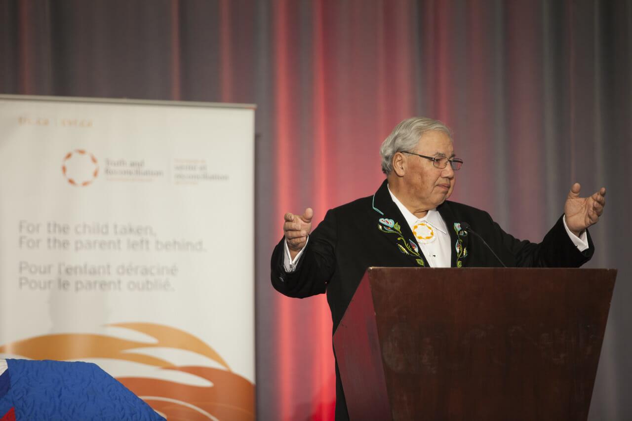 Commissioner speaking at TRC of Canada's Closing Ceremony