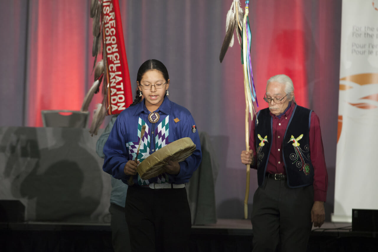 drumming at TRC closing ceremony