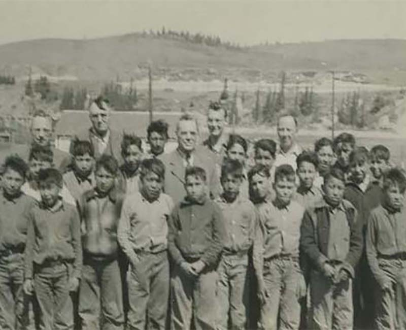 Students and teachers outside at Morley Stony School