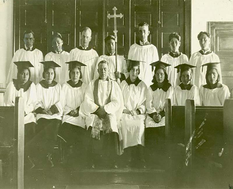 Group of people at Prince Albert School