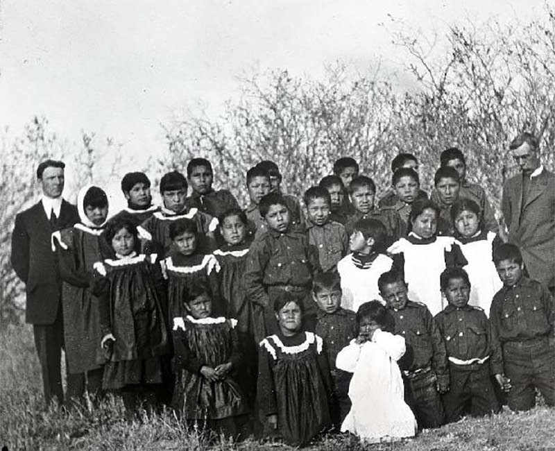 Group of students outside of St. Cyprian's School