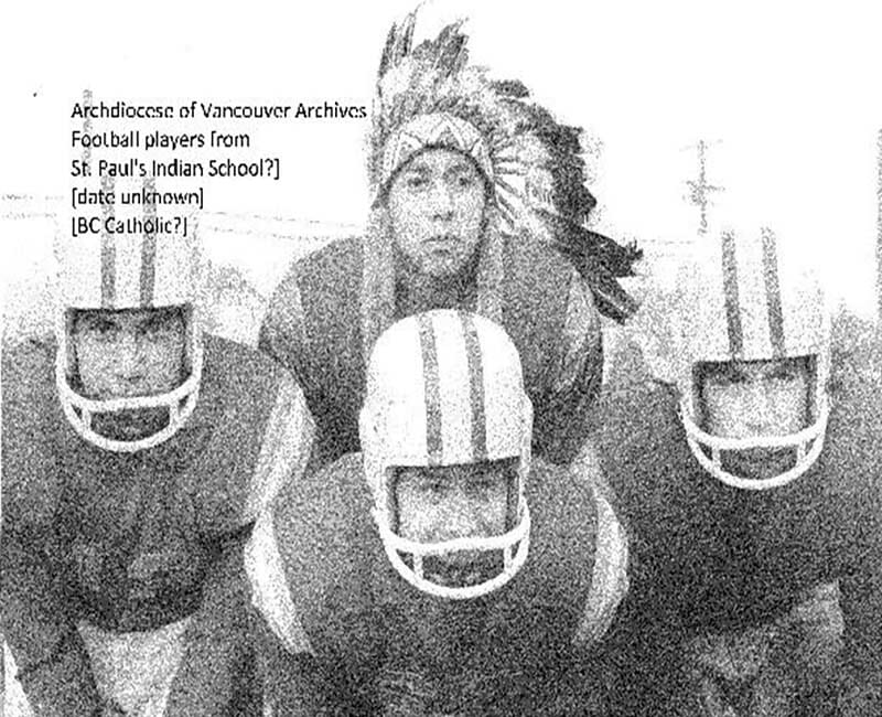 football players from St. Pauls Squamish school