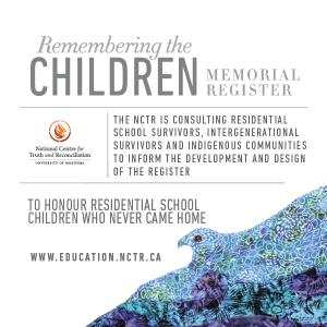 remembering the children memorial register