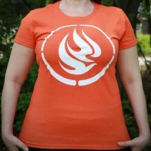 Front of Orange NCTR t-shirt
