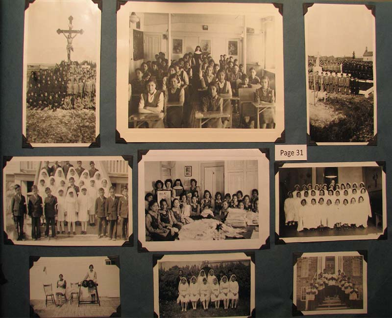 Group of old photographs from Pine Creek school