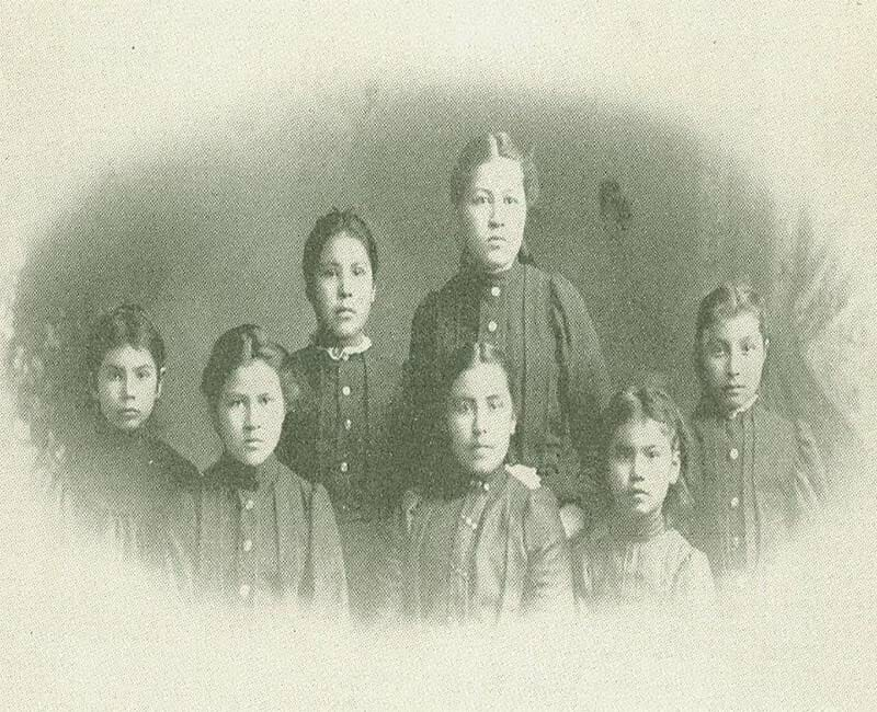 Portrait of group of people from Wawanosh Home