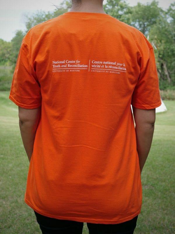 Back of Orange T-shirt