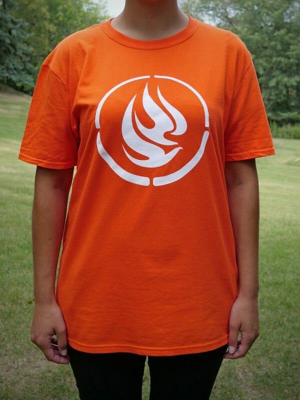 Front of Orange T-shirt