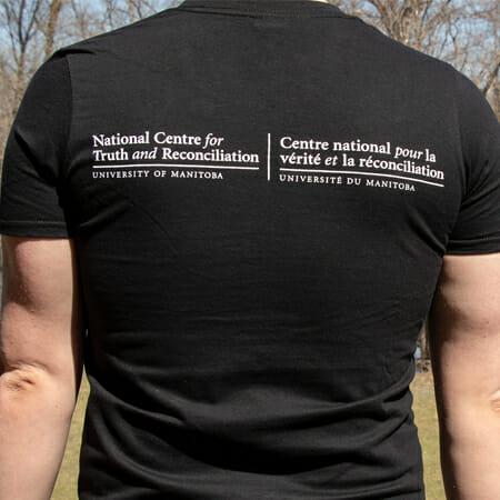 Back of black NCTR t-shirt