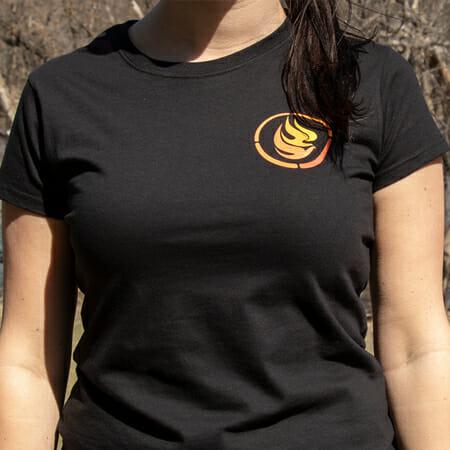 Front of women's NCTR t-shirt