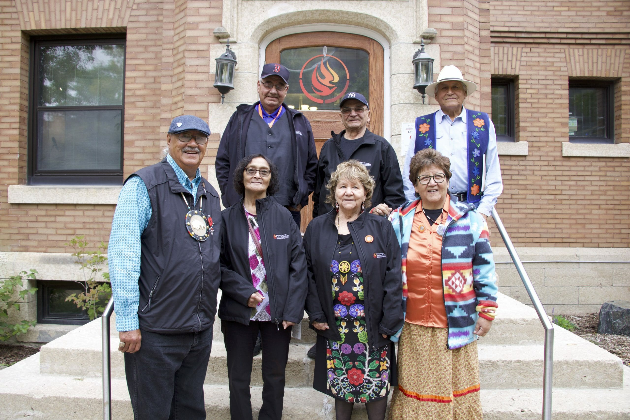 Survivors Circle members in front of NCTR building