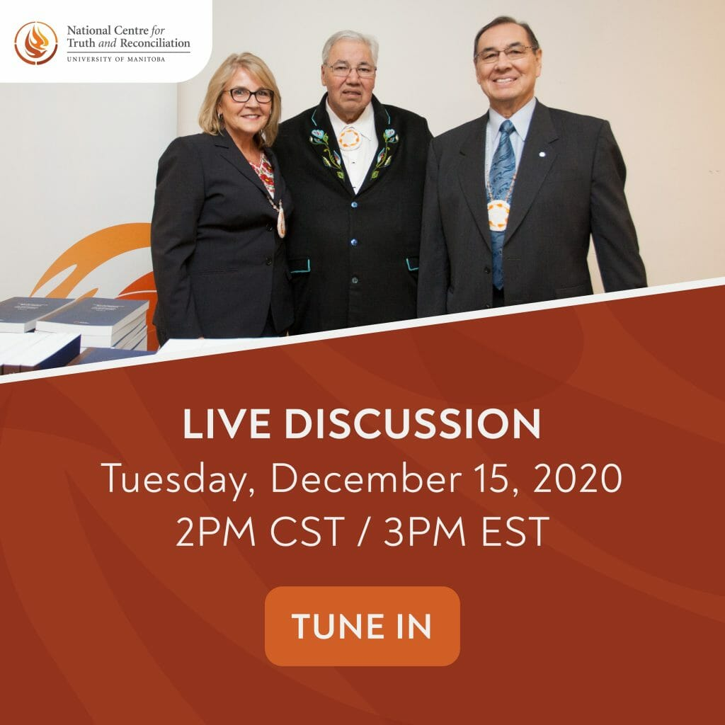 NCTR Live Discussion December 15, 2020 event poster.